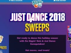 Dippin' Dots Just Dance Sweepstakes