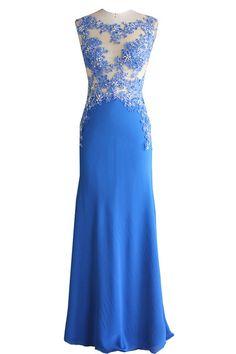 ad1c1b85b4fa 145 Best Blue Evening Dresses images