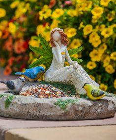 Another great find on #zulily! Angel & Chickadees Garden of Good Wishes Bird Feeder #zulilyfinds