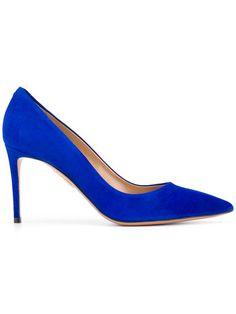 ada611fe28cd Bold   Blue Aquazzura Heels New For Spring 2018