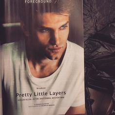 Keegan's headshot in his new book! | Pretty Little Liars