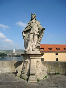 """A statue of Pepin III """"the Short"""" in Wurzburg"""