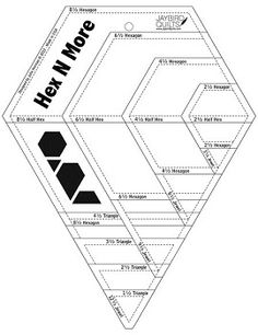 Julie of Jaybird Quilts here to tell you about my my new ruler! Hex N More! What makes this ruler special is that it can cut 4 shapes in 4 sizes! Quilting Frames, Quilting Rulers, Quilting Tools, Hexagon Quilting, Modern Quilting, Machine Quilting, Quilting Templates, Quilting Tutorials, Quilt Patterns