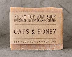 Oats & Honey Soap - All Natural Soap, Handmade Soap, Cold Process Soap, Unscented Soap. $6.50, via Etsy.