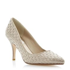 DUNE LADIES Neutral BELOVEDS - Dune Bride Woven Satin Pointed Toe Court Shoe | Dune Shoes Online