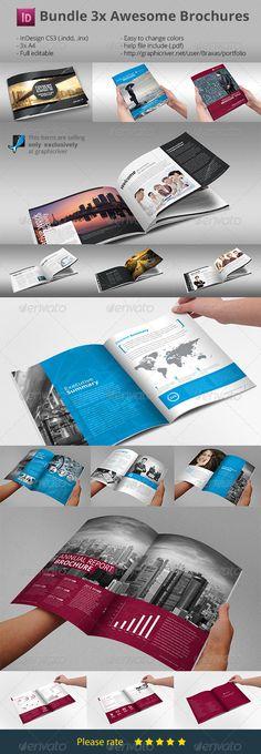 Bundle Brochures Template Indesign x3 by Braxas 1. Horizontal Business Design Folder Business Design Folder is a template for creative business, created in Adobe InDesign. Deta