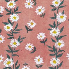 Pink White Daisies by Joyce Badrocke, from the V and A Fifties Florals range by Museums & Galleries