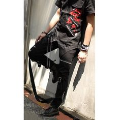 Goth fashion for men and women | Punk Rock And Gothic Clothes Black Slim Fit Pants Trousers Men Women