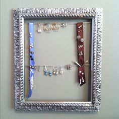Home-made earring holder, perfect for dangling earrings and earrings with backs