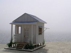 marieisaacs:  The Beach House dollhouse with the fog rolling in by grazhina on Flickr.