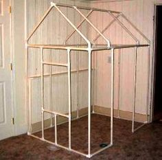 Free plans and pictures of PVC pipe projects. Playhouse, bunk bed, patio swing, bike rack, planters and so much more!