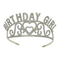 "Shop for Club Pack of 6 Silver Glitter Encrusted Metal ""Birthday Girl"" Tiara Costume Accessories. Get in rewards with Club O! Girls Tiara, Girls Crown, Party Accessories, Costume Accessories, Teenage Parties, Glitter Birthday, Princess Tiara, Princess Party, Glitter Pumps"