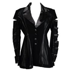 PUNK GRUNGE POWER MESH CUT OUT SATIN JACKET Black Plum, Black Mesh, Alternative Clothing Brand, Slogan Tops, My Unique Style, Satin Jackets, Taylor Momsen, Long Jackets, Leather Jacket