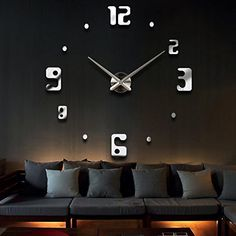 YESURPRISE Modern 3D Frameless Large Silver Wall Clock Style Watches Hours DIY Room Home Decorations Model MAX3 #10 Arabic Numeral Yesurprise http://www.amazon.com/dp/B00RJM14JS/ref=cm_sw_r_pi_dp_W30yvb0W26EWA