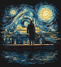 Noche estrellada & Sherlock - beautiful fanart
