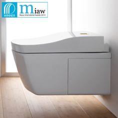Le Lauréat de la catégorie Système sanitaire innovant est TOTO pour son produit Washlet Neorest AC, le premier Washlet entièrement autonetto...