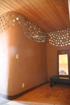 plastic metal dots, or mirrors whatever your budget usually both can be bought a dollar store!