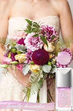 Match Your Manicures with Your Wedding Bouquets http://www.theperfectpalette.com/2014/02/coordinating-your-manicures-with-your.html?utm_source=feedburner