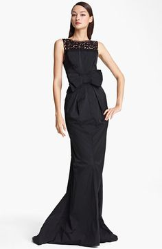 Nina Ricci Bow Waist Sleeveless Gown available at #Nordstrom