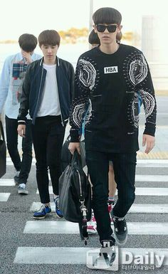 140704- EXO Park Chanyeol (ft. D.O and Kai) @ Incheon Airport #exok #fashion #mens