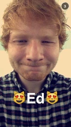 Ed loves cats Ginger Head, Cute Ginger, Ginger Boy, Ed Sheeran, I Love Him, My Love, S Pic, Celebrities, Celebs