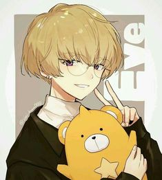 """AWWW eve is holding the bear from """"the secret about that girl"""" Cute Anime Guys, I Love Anime, Anime Boys, Cute Characters, Anime Characters, Character Art, Character Design, Cosplay Anime, Estilo Anime"""