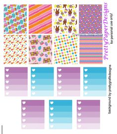 FREE Easter Holiday Planner Stickers by Prettypaper Designs