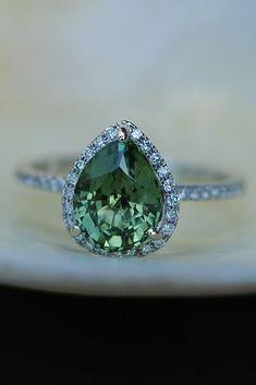 Eidel Precious Sapphire Engagement Rings ❤️ Eidel Precious engagement rings white gold pear cut halo ❤️ See more: http://www.weddingforward.com/eidel-precious-engagement-rings/ #weddingforward #wedding #bride