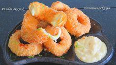 ☀ Луковые кольца с сыром и сливочным соусом ☀ Горячая закуска Onion ring...