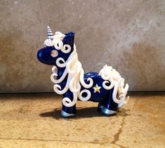 Clay unicorn Celestial by CritterCollective on Etsy, $30.00