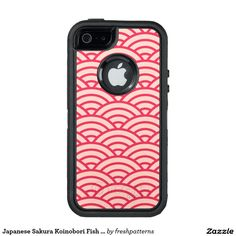 Japanese Sakura Koinobori Fish Scale Pattern OtterBox iPhone 5/5s/SE Case