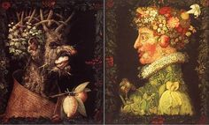 Winter and Spring- By Giuseppe Arcimboldo's two of the 4 seasons composed between 1563 and 1573