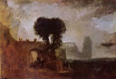 Turner, Joseph Mallord William: Torbogen mit Bäumen am Meer (Archway with Trees by the Sea)