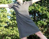1960s Mod Gray Felted Wool Dress