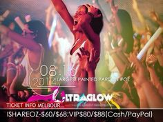 Ultraglow Melbourne 2014 Tickets on sale Large Painting, Melbourne