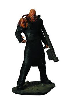 """Hollywood Collectibles Resident Evil: Nemesis: 1:6 Scale Statue by Hollywood Collectibles. $299.99. Includes his signature rocket launcher. Stands 21"""" tall. Constructed from heavyweight polystone and hand painted. From the classic Resident Evil video games. The latest edition to Hollywood Collectibles' officially licensed statue collection. From the Manufacturer                Behold, the Nemesis is here. From the classic Resident Evil video games comes the latest ..."""