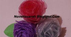 Mawar Cantik ini Dibuat dengan Sangat Gampang dengan Bahan Kantong Plastik Bekas  Kadangkala pembuatan suatu barang kerajinan tidak harus m...