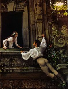 """""""Coco Rocha and Roberto Bolle as Romeo and Juliet Photographed by Annie Leibovitz, Fashion Editor Grace Coddington """" Male Ballet Dancers, Ballet Boys, Love Of A Lifetime, Lifetime Series, Annie Leibovitz Photography, Romeo Y Julieta, Style Masculin, Romance Art, American Ballet Theatre"""