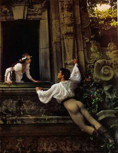 Romeo & Juliet. Model Coco Rocha & dancer Roberto Bolle (c) Annie Leibovitz