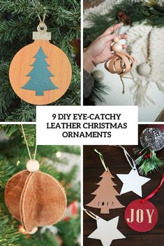 9 DIY Eye-Catchy Leather Christmas Ornaments | Shelterness