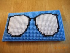 eyeglass case finished plastic canvas by DebbyWebbysCreations