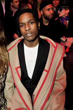 057db1545e celebritiesofcolor  ASAP Rocky attends the Dior Homme Menswear Fall Winter  2016-2017 show