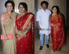 Celebrity Styles at Anchor Ramya Wedding Reception ~ Celebrity Sarees, Designer Sarees, Bridal Sarees, Latest Blouse Designs 2014