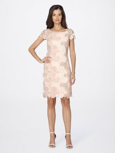 Check out Floral Lace Sheath Dress from Tahari ASL