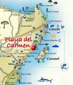 Los mejores destinos turísticos en Mexico: Playa del Carmen , en Quintana Roo