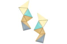 Origami Jewelry Is Fall's Most Clever Accessory - Teen Vogue recommends Shlomit Ofir's Origami Earrings Teen Trends, Fall Trends, Origami Jewels, Israel Fashion, Jewelry Trends, Fabric Patterns, How To Look Pretty, My Style, Picnic Box