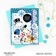 A Kept Life: Sending You A Blizzard Snowman Cards, Cute Snowman, Snow Cream, Clear Stickers, Paper Background, Cute Cards, Pattern Paper, Make You Smile, Pretty Little