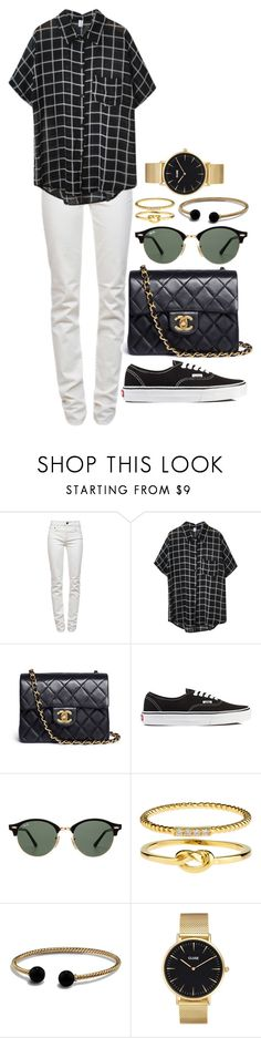 """""""Sin título #1191"""" by tamar4a ❤ liked on Polyvore featuring Proenza Schouler, Chicnova Fashion, Chanel, Vans, Ray-Ban, Accessorize, David Yurman and CLUSE"""