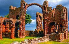 Lindisfarne Priory - Holy Island - off England's east coast