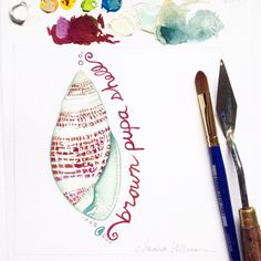 To me it looks more burgundy and silvery white, but #31DaysOfSeashells seashell #19 is called the Brown Pupa Shell. I love the details on this one!  Copyright Amalia Hillmann